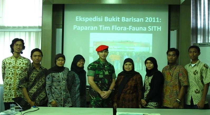 Ekspedisi Bukit Barisan Tahun 2011: Paparan Tim Flora Fauna SITH-ITB