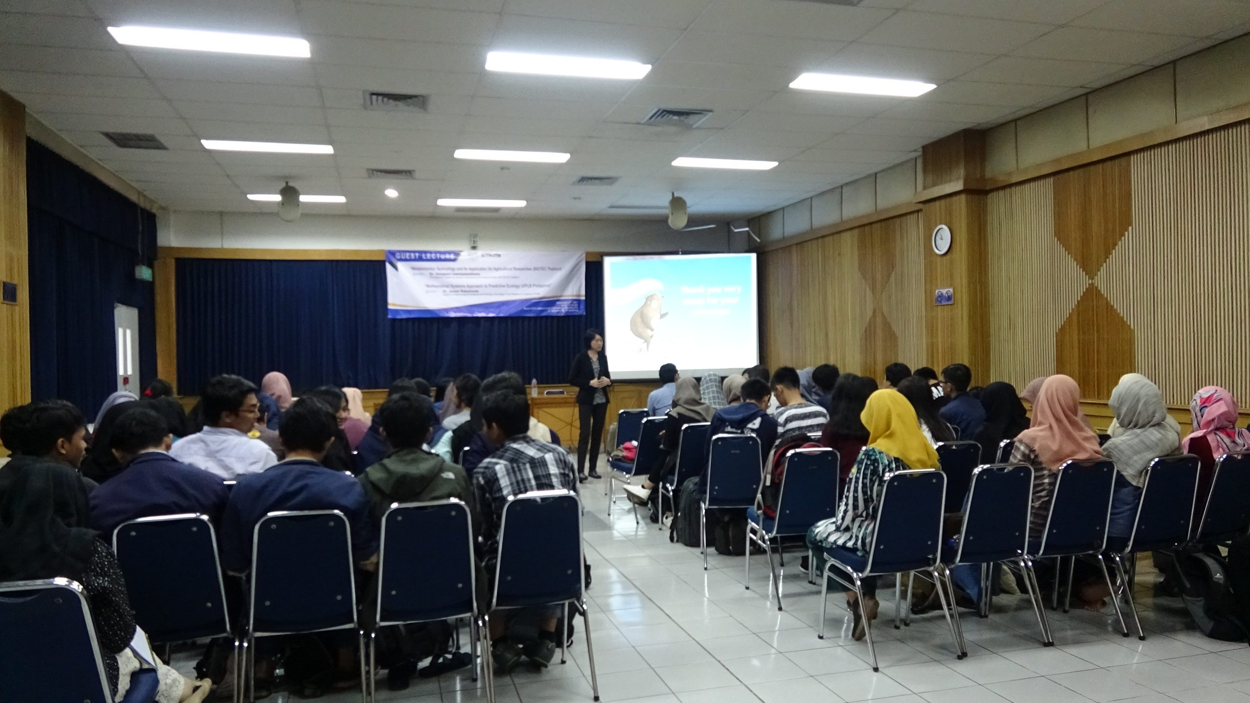 Guest Lecture : Microbiology Study Program, SITH ITB (Dr. Umaporn Uawisetwathana and Dr. Jomar Rabajante)