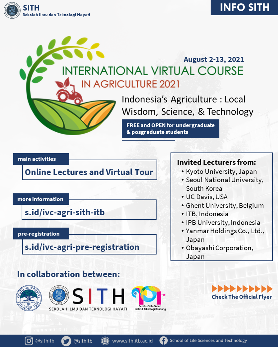 International Virtual Course in Agriculture 2021
